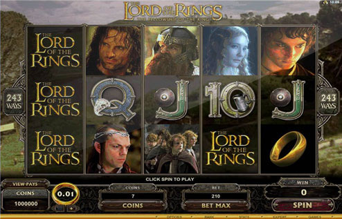 free slots online lord of the rings